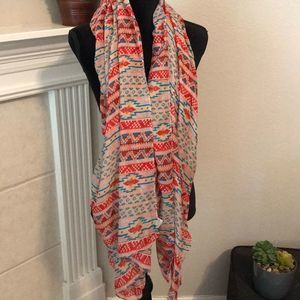 Large Tribal Patterned Scarf